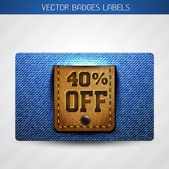 Offer jean label