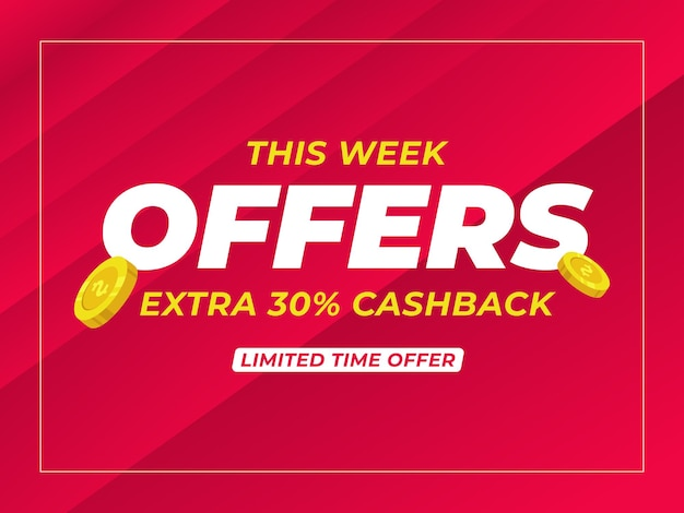 Offers extra cashback banner template