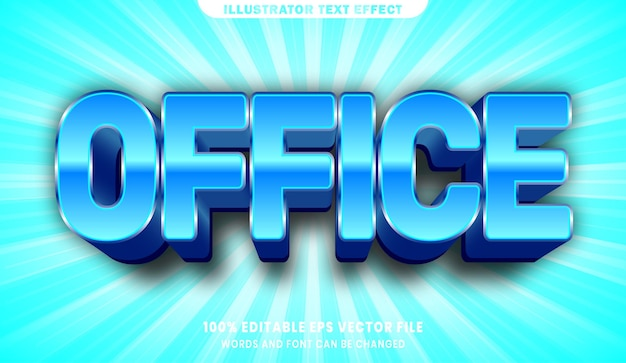Редактируемый эффект стиля текста office 3d