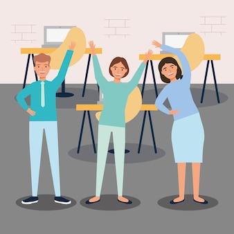 Office active breaks illustration