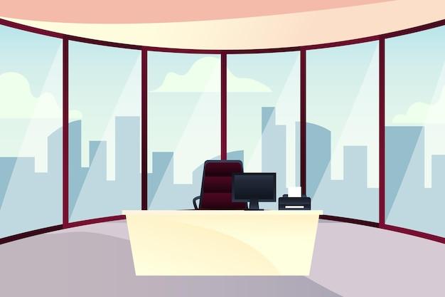 ビデオ会議のオフィスの背景