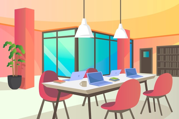 Office-화상 회의 배경