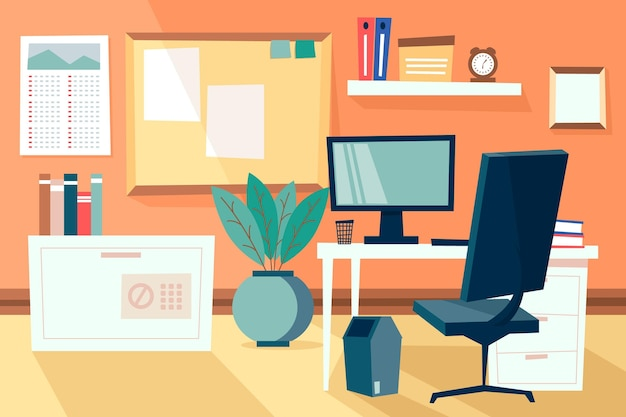 Office background for video conference