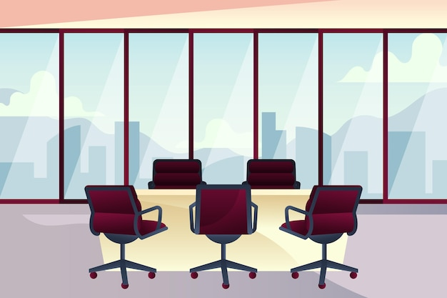 Office background for video conferencing