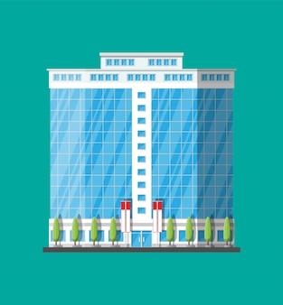 사무실 건물 외관. 상업용 건물