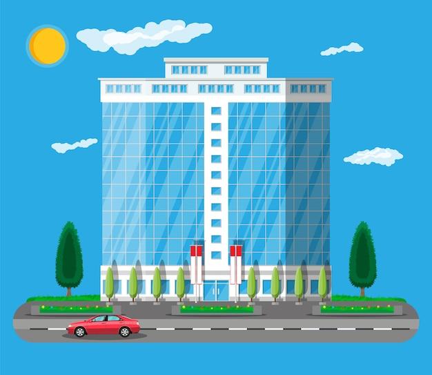 オフィスビル外観。商業ビル