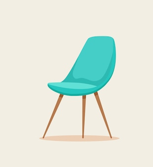 Office chair cartoon illustration.