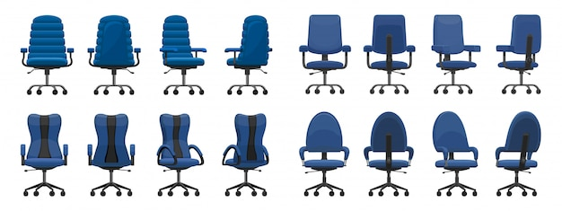 Office chair isolated cartoon icon