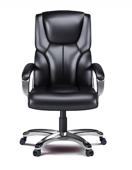 Office chair isolated realistic 3d vector image