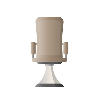 Office chair. vector illustration of an office chair for a boss. isolated on white background.
