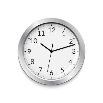 Office clock vector circle modern business sign