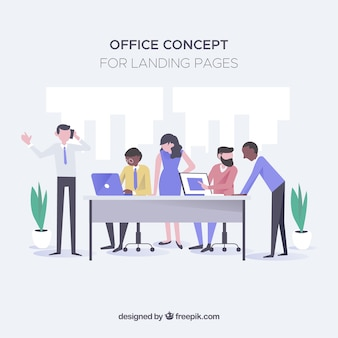 Office concept for landing page