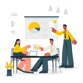 At the office concept illustration