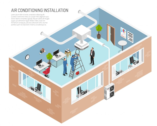 Office conditioning system illustration