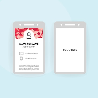 Office or corporate id card template
