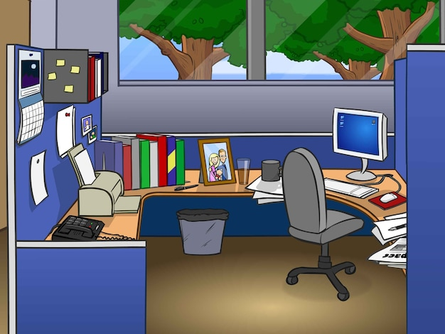 Office cubicle