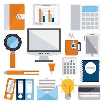 Office design over white background vector illustration