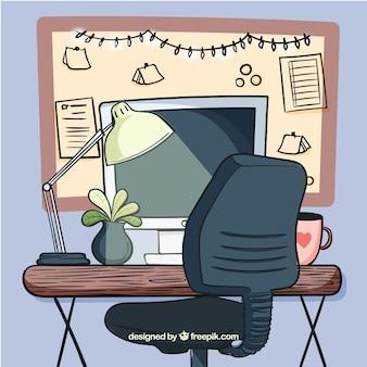 Офисный стол со смешным стилем