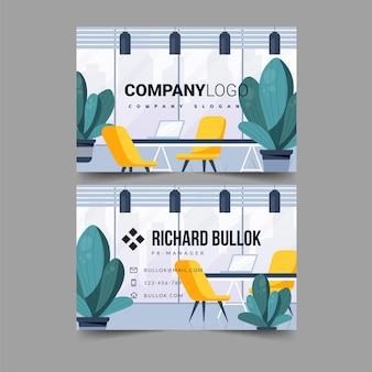 Office double sided business card