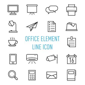 Office element line icon