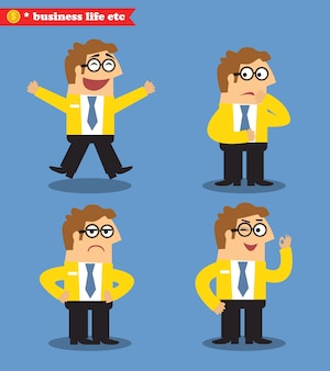 Office emotions poses