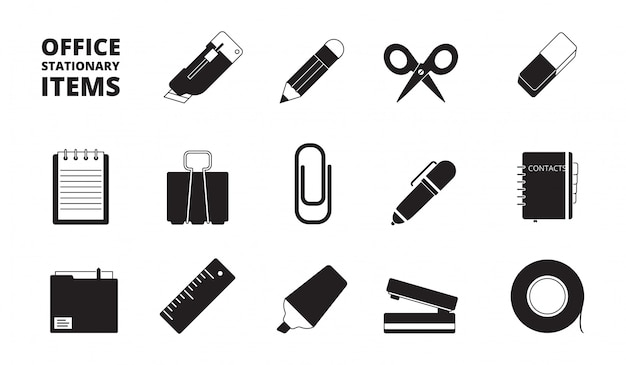 Office equipment icon set