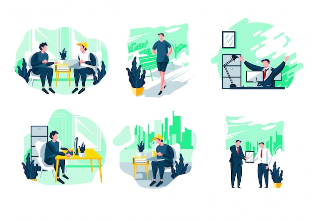 Office flat illustration