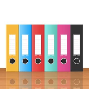 Office folders design illustration isolated on white background