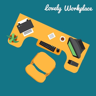 Office or freelancer workplace. technical workspace.