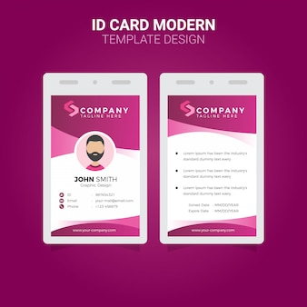 Office id card modern simple corporate business template design premium vector