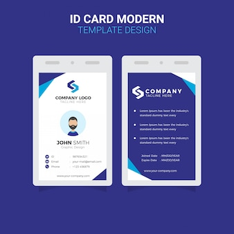Office id card modern simple corporate business template