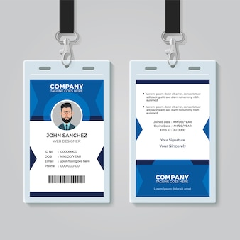 Office identity card template