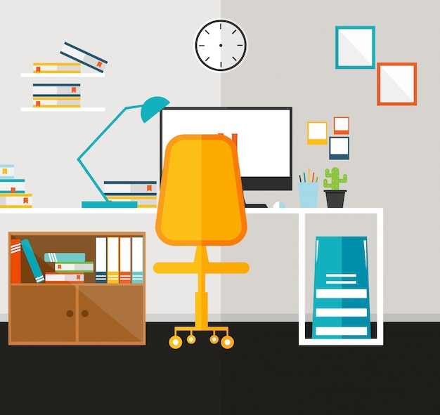 Office  learning and teaching vector illustration