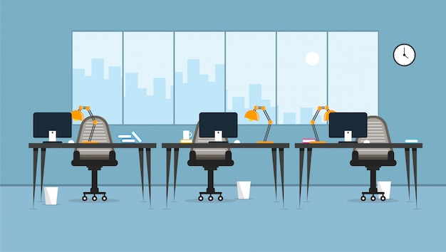 Office  learning and teaching to work using a design program vector illustration