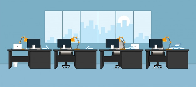 Office of learning and teaching to work using vector illustration, design program
