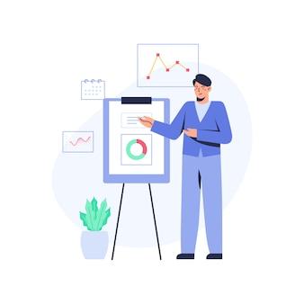 Office man doing presentation