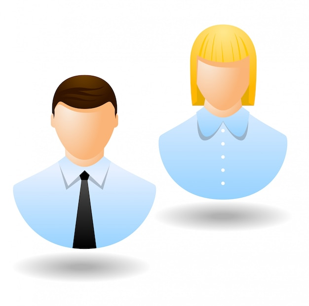 Office manager icons or avatar isolated