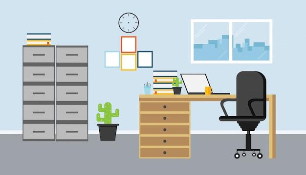 Office master vector illustration