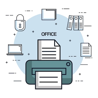 Office printer paper document copy work object icon