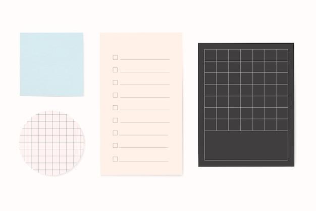 Office stationery notepaper set