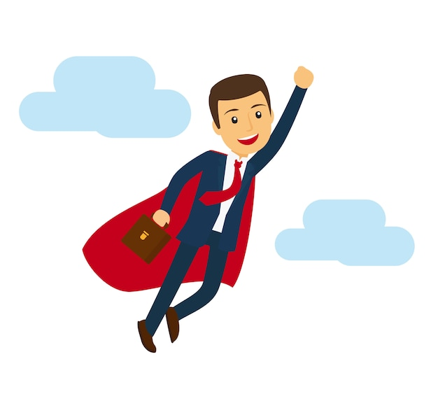 Office superman flying icon