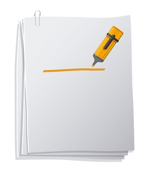 Office supplies design over white background
