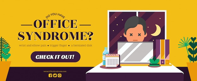 Office syndrome banner template