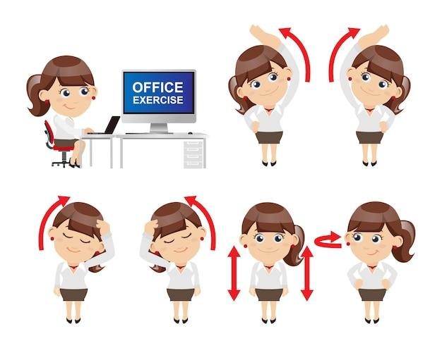 Офисный синдром иллюстрация