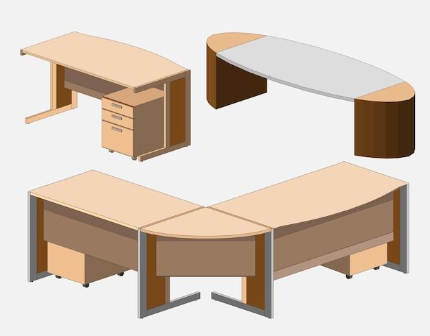 Офисный стол изометрический