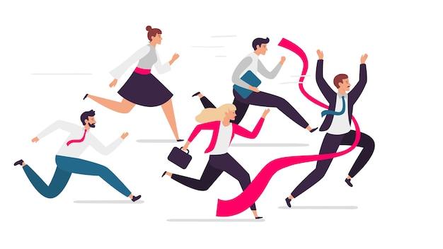 Office team crosses finish line