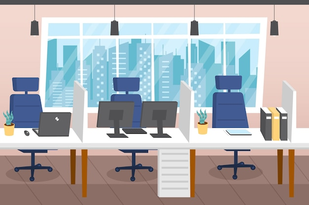 Office wallpaper for video conferencing