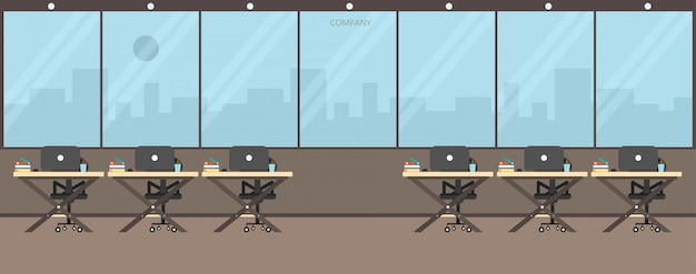 Office work in the company work using vector illustration
