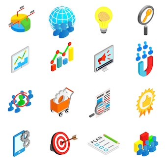 Office work set icons