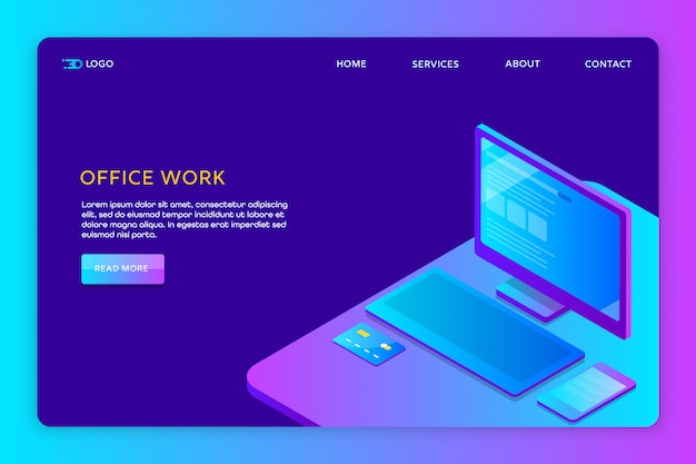 Office work website template